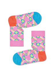 Happy Socks Kids Shooting Heart Sock Roze