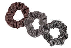 Sarlini Haarelastiek Scrunchies Midbrown | 3 stuks