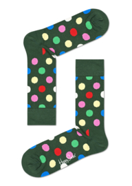Happy Socks Big Dot Sokken Army Green