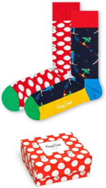 Happy Socks Christmas 2-Pack Red Gift box