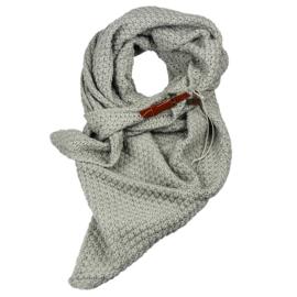 Gebreide Knitten Royale omslagdoek | wintersjaal Lot, Grijs