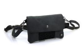 Zwart heuptasje / schoudertasje / clutch Zoutelande