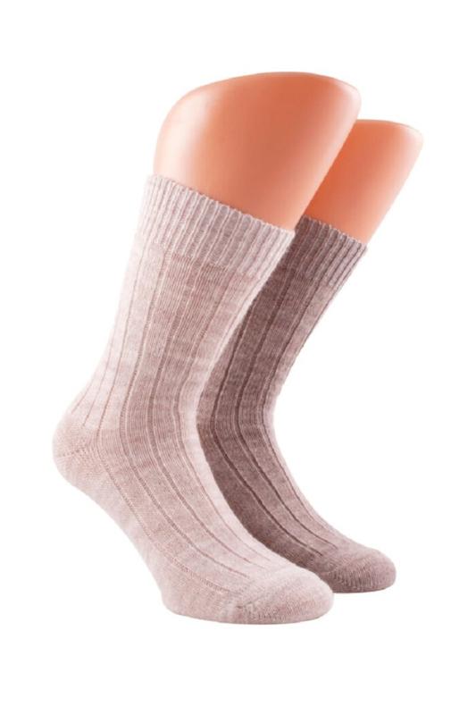 Boru Lamswollen sokken | 2-Pack | Ecru Wolwit