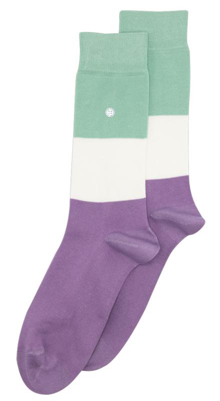 Alfredo Gonzales Socks | Big Stripes Lila