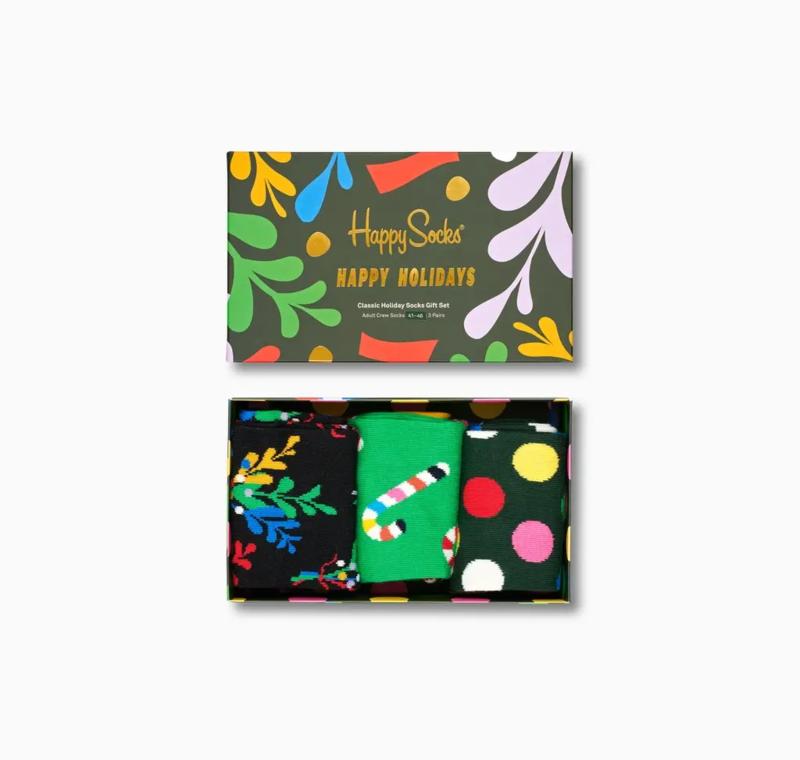 Happy Socks Christmas Holiday 3-Pack Gift box