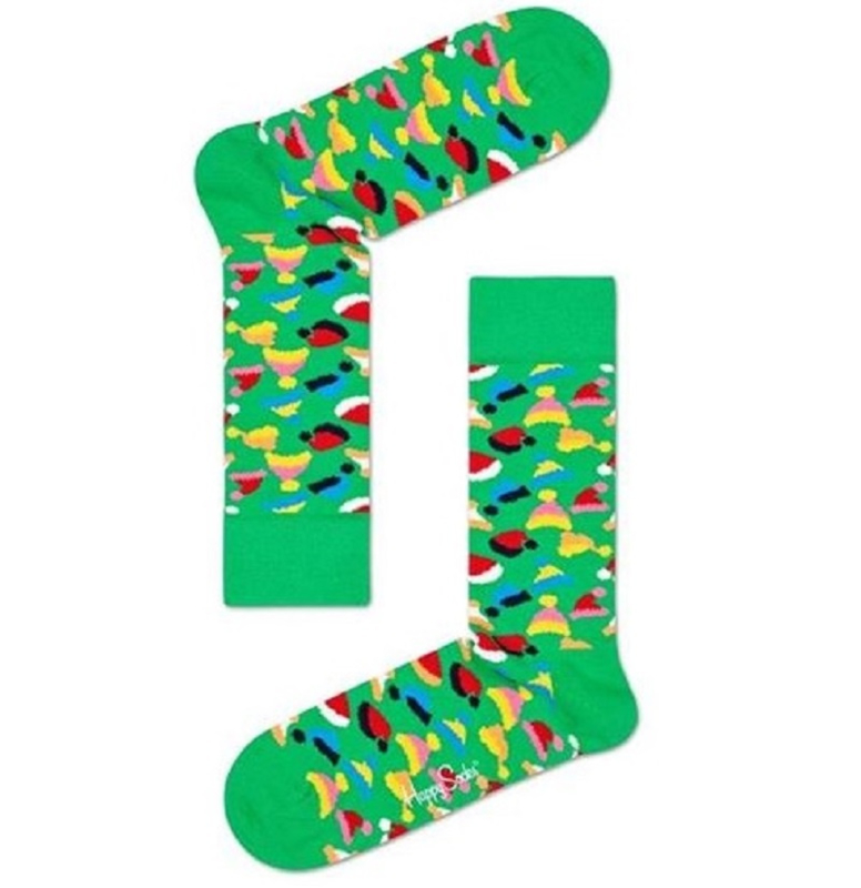 Happy Socks Christmas Santas Hat Sock