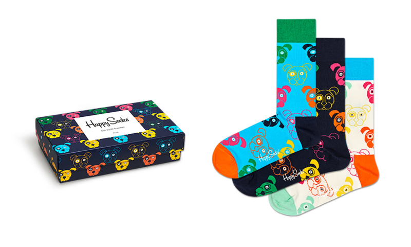 Happy Socks 3-Pack Giftbox Dogs