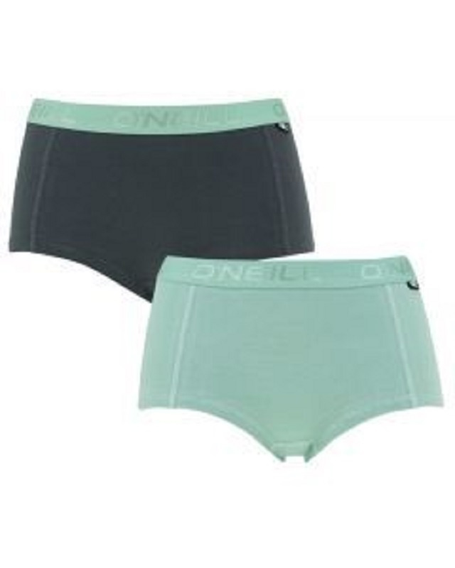 O'Neill Women Shorty Plain 2-pack, 800012, Lily Pad/India Ink