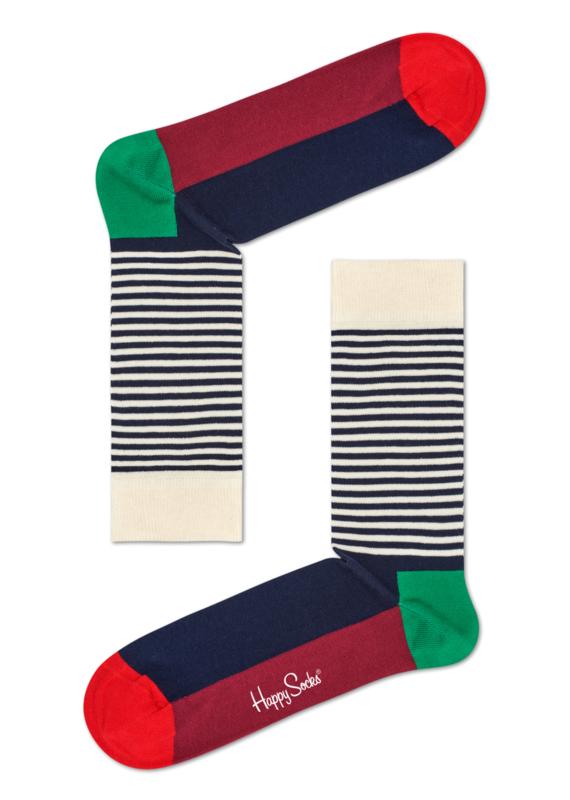 Happy Socks Christmas Half Stripe Sock