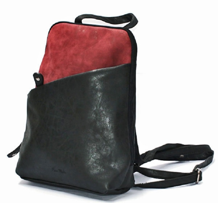 Rugzak | Backpack Basic Contrast | Raspberry/Zwart