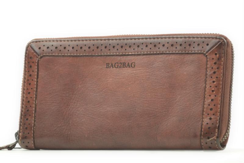 Bag2Bag Limited Edition Wallet, Waco Dark Tan Cognac
