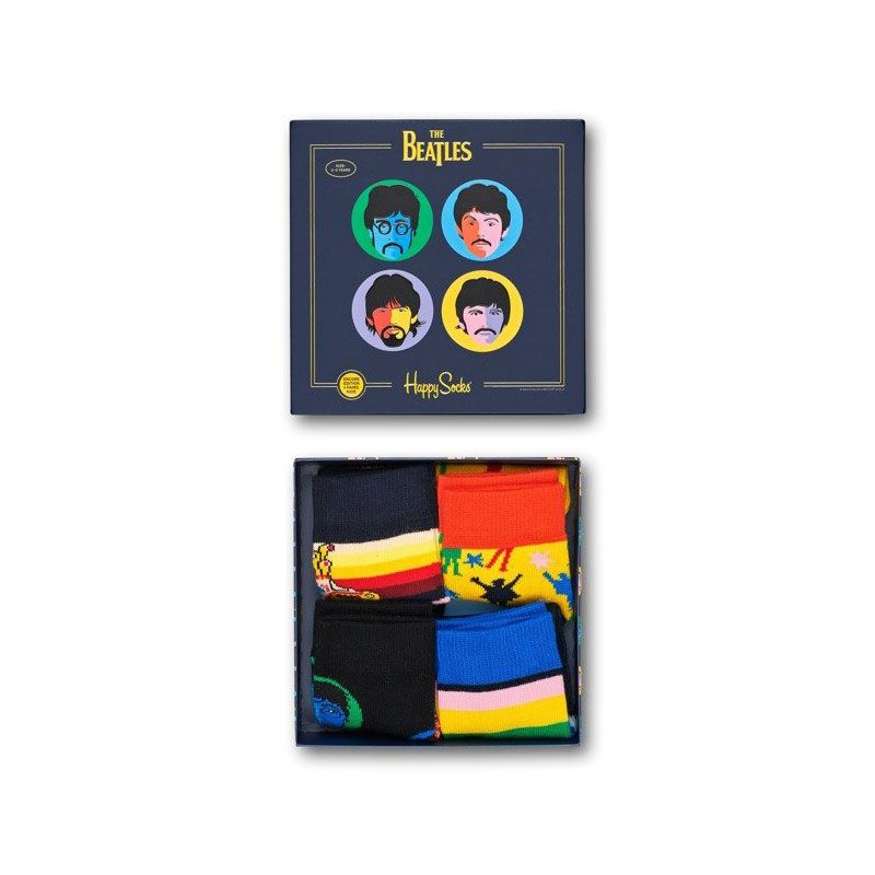 Happy Socks The Beatles Kids Collector Gift Box Set, 4-Pack
