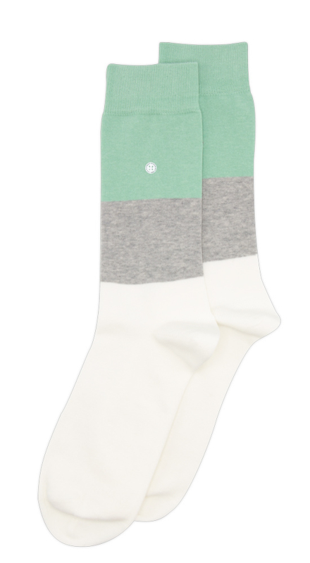 Alfredo Gonzales Socks   Big Stripes Grey