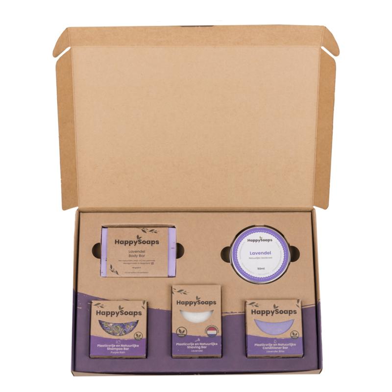 HappySoaps Verzorgings Giftbox - Lavender Lullaby Large