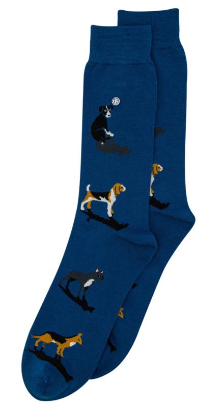 Alfredo Gonzales Socks Dog Blauw