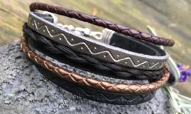 trendy armband met paardenhaar en leertjes