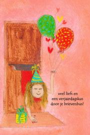 Verjaardagskus door je brievenbus