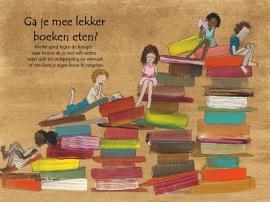 Poster 'Ga je mee lekker boeken eten'