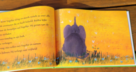 De olifant aan het paaltje
