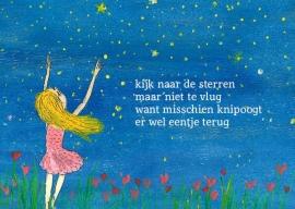 Kijk naar de sterren postkaart