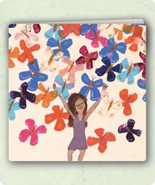 vlinders klapkaart