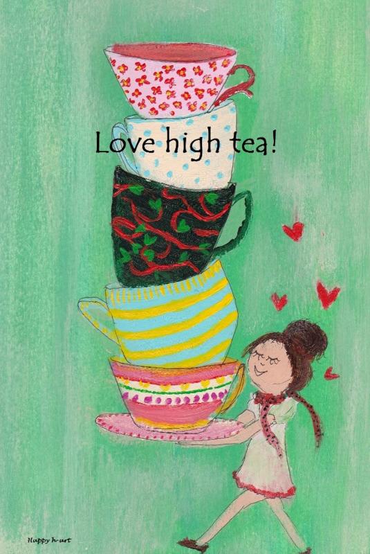 Spiksplinternieuw Love high tea!   Lief je leven kaarten   Happy h-art ZF-65