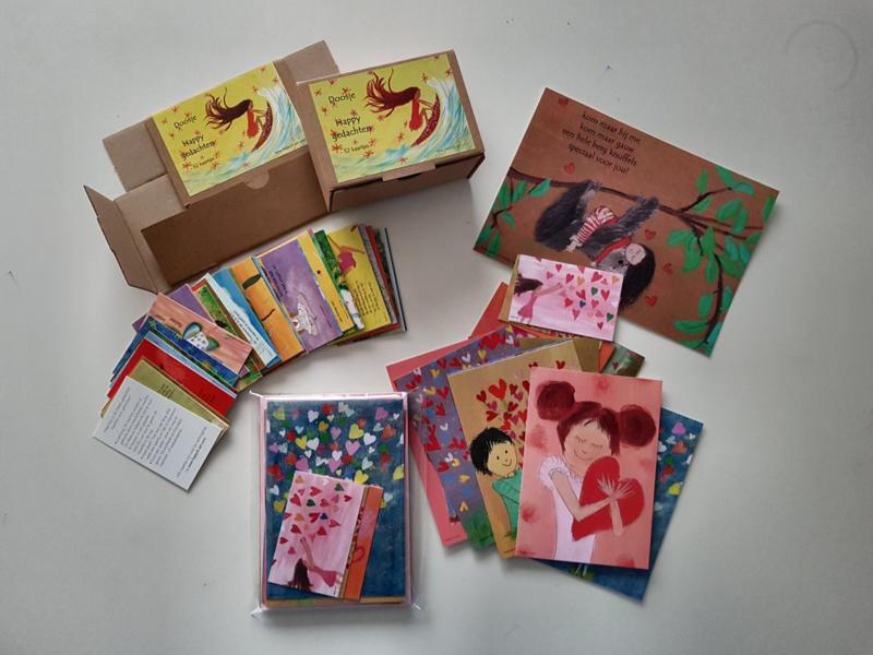 Een doosje Happy gedachten cadeau pakket