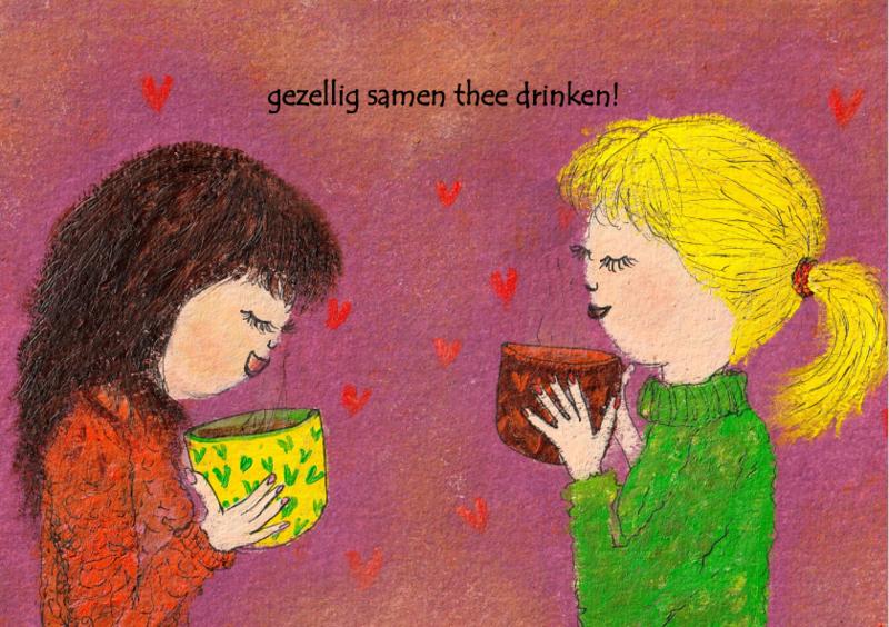 Gezellig samen thee drinken!
