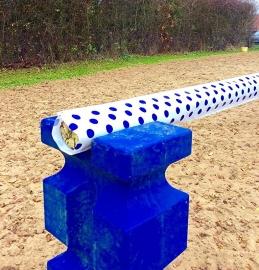Hoes Hindernisbalk - Spots Wit Blauw