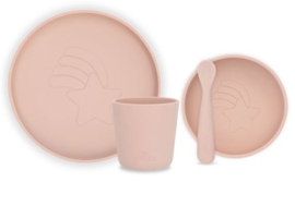 Dinnerset siliconen pale pink