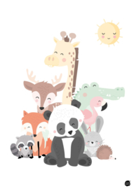 Poster animal family