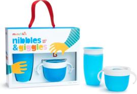 Munchkin Nibbles & Giggles Gift Set Blue