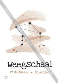 Weegschaal poster