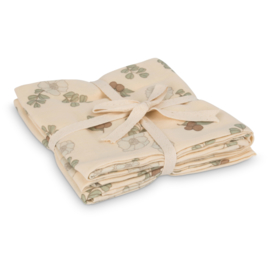 Muslin cloth 2-pack – Flowers and berries