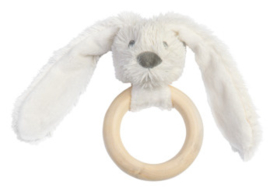 Wooden teething ring rabbit ivory