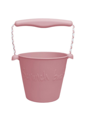 Bucket dusty rose