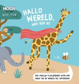 Noox Kartonnen Flappenboek 'Hallo Wereld, Hier ben ik!'