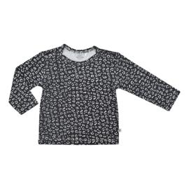 Kiddo Shirt Zwart Cheetah
