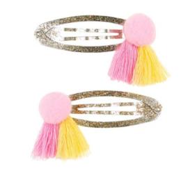 Hair Clips Benthe Pink/yellow