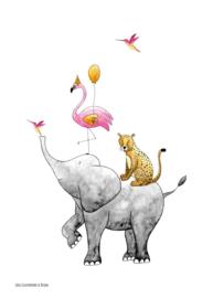 Juulz Poster  Stapeldieren Roze