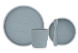 Dinnerset siliconen storm grey