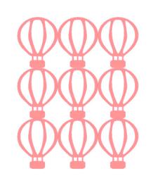 Muursticker luchtballon roze