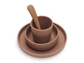 Jollein Silicone Dinner Set Caramel