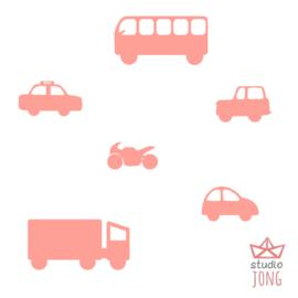 Autoweg auto`s roze