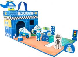 Politie station Speelkoffer
