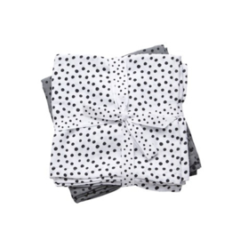 Swaddle happy dots grey