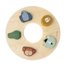 Houten ronde puzzel