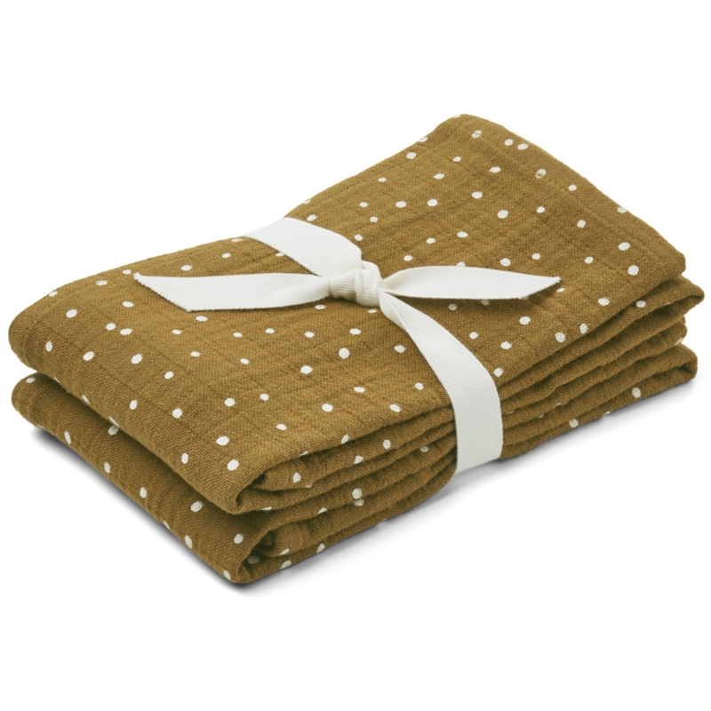 Liewood Lewis muslin cloth 2-pack Confetti Olive