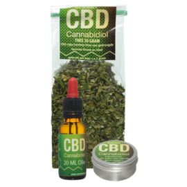 CBD set (Olie,Balsem,Thee)
