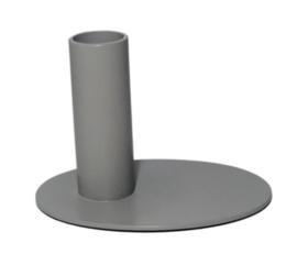 Kandelaar| Oval| grijs
